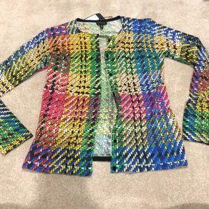 Escada multi-colored button down cardigan. NWT